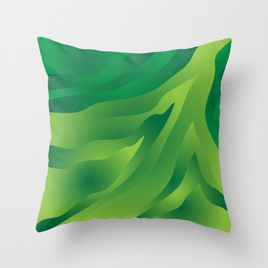 Camo Green Throw Pillow