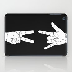 Peace Love and Rock N Roll iPad Case