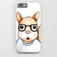 iPhone & iPod Case featuring Squirrel, the Intellectual  by Ellie Craze