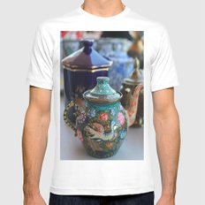 Tea SMALL White Mens Fitted Tee