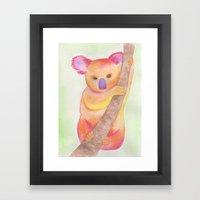 Colorful Koala Framed Art Print