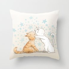 When We Kiss, I See Stars Throw Pillow