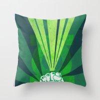 Green Lantern's light Throw Pillow