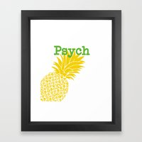 Minimalist Psych  Framed Art Print