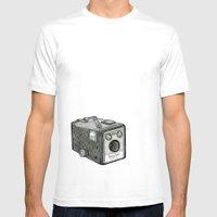 Kodak Box Brownie Camera Illustration Mens Fitted Tee White SMALL