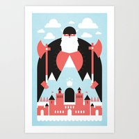 King of the Mountain Art Print