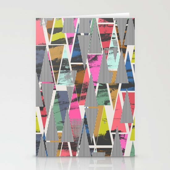 Triangles 21 Stationery Card