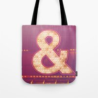 Neon Ampersand Tote Bag
