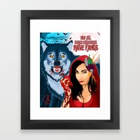 Not All Fierce Creatures Have Fangs Framed Art Print