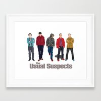 The Usual Suspect Casual… Framed Art Print