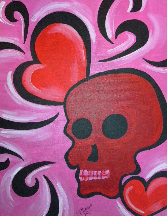 Love Skull Art Print