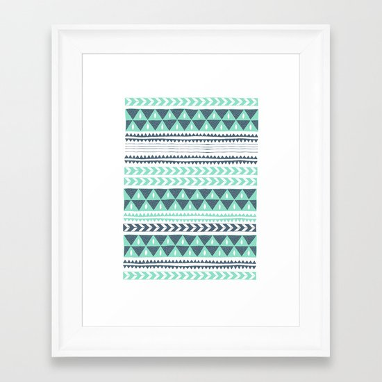 Winter Stripe Framed Art Print