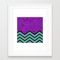 LEOPARD CHEVRON 2 Framed Art Print