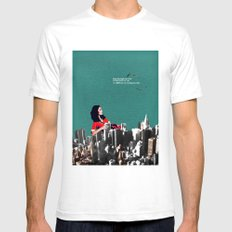 High Rise View Mens Fitted Tee White SMALL