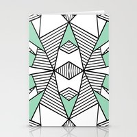 Triangle Tribal Mint Stationery Cards