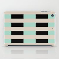 Tan Black Mint Checkerbo… iPad Case