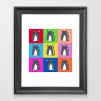 Odd Kitty Out Framed Art Print