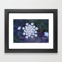 Snowflake Framed Art Print