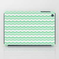 Green Waves iPad Case