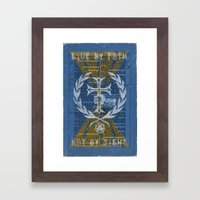 LIVE BY F8TH SEAL Framed Art Print
