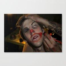 Clown Calling Card Canvas Print