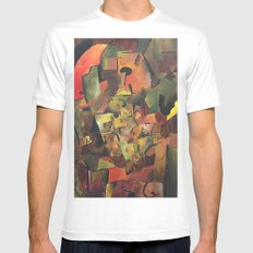 Autumn's avenue White SMALL Mens Fitted Tee