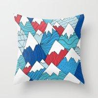 Mountain Pattern 2.0  Throw Pillow