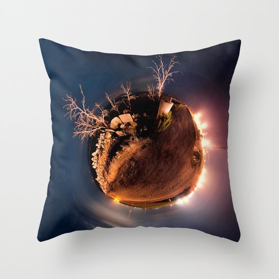Salton Sea Polar Panoramic Throw Pillow