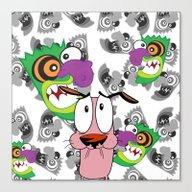 Ooga Booga Courage The C… Canvas Print
