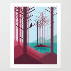 The guardian of the forest Art Print