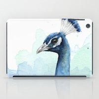 Peacock Watercolor iPad Case