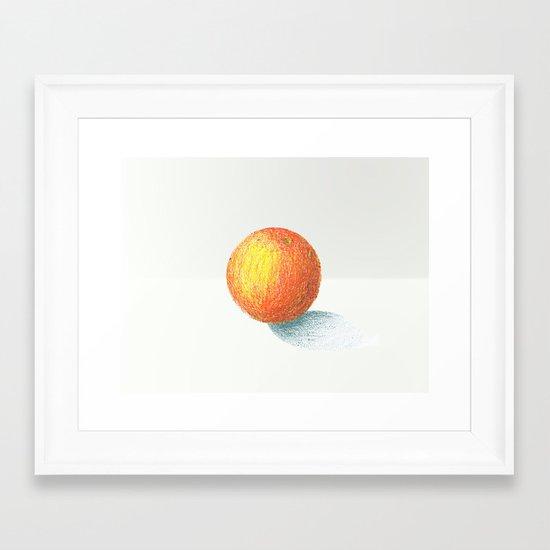 Crayon Love: Simple Orange Framed Art Print