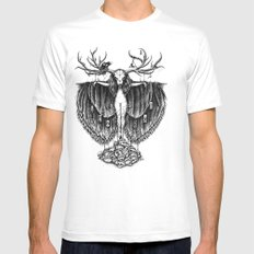 Scarecrow Mens Fitted Tee SMALL White