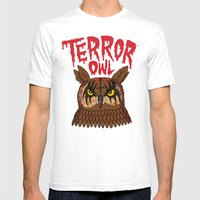 Terror Owl Mens Fitted Tee White SMALL