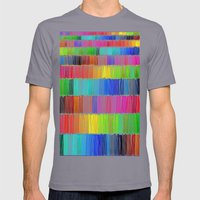 Prismatic Rainbow (Reverse) Mens Fitted Tee Slate SMALL