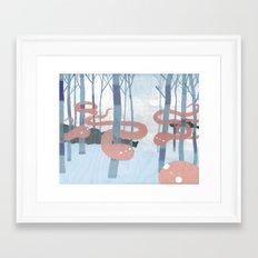 Snakes in the Forest Framed Art Print