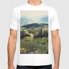 Down in the Valley Mens Fitted Tee SMALL White