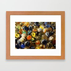 Technicolour Marbles Framed Art Print