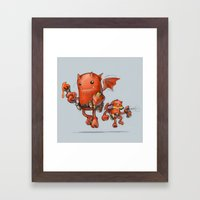 Creative Red Devil Framed Art Print