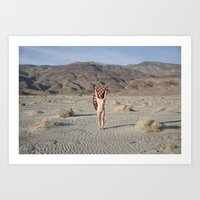 Nude Portrait in Death Valley Art Print