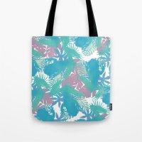Tropical Blue Frog Pattern Tote Bag