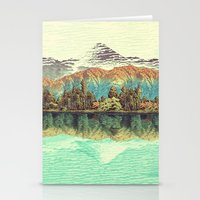 autumn Stationery Cards featuring The Unknown Hills in Kamakura by Kijiermono