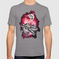 Illusion Mens Fitted Tee Tri-Grey SMALL