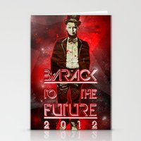 Barack To The Future Stationery Cards