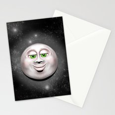 Full Moon Smiling Face 3D  Stationery Cards