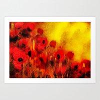 FLOWERS - Poppy Reverie Art Print
