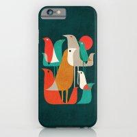 retro iPhone & iPod Cases featuring Flock of Birds by Picomodi