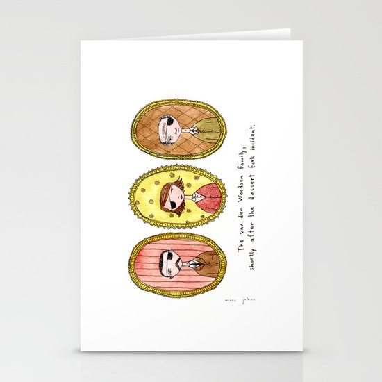 the dessert fork incident Stationery Card