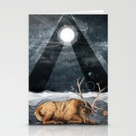 Stationery Cards featuring The Unsleeping Dream by Sandra Dieckmann