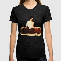 Audrey Horne Womens Fitted Tee Tri-Black SMALL